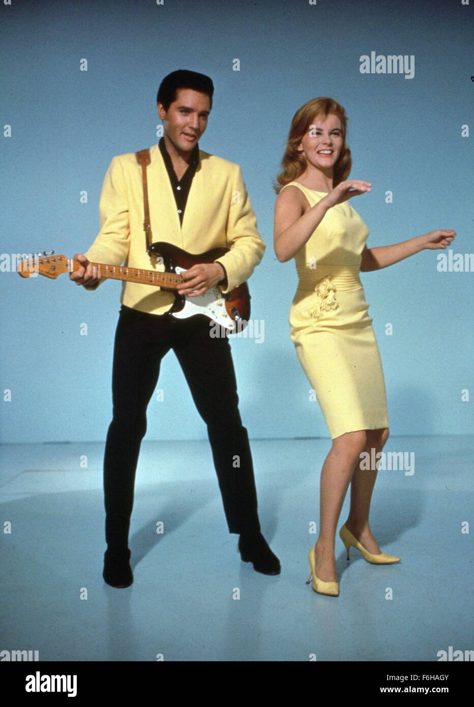 1965, Film Title: VIVA LAS VEGAS, Director: GEORGE SIDNEY, Studio: MGM, Pictured: ANN-MARGRET, DANCING, GUITAR, - Stock Image