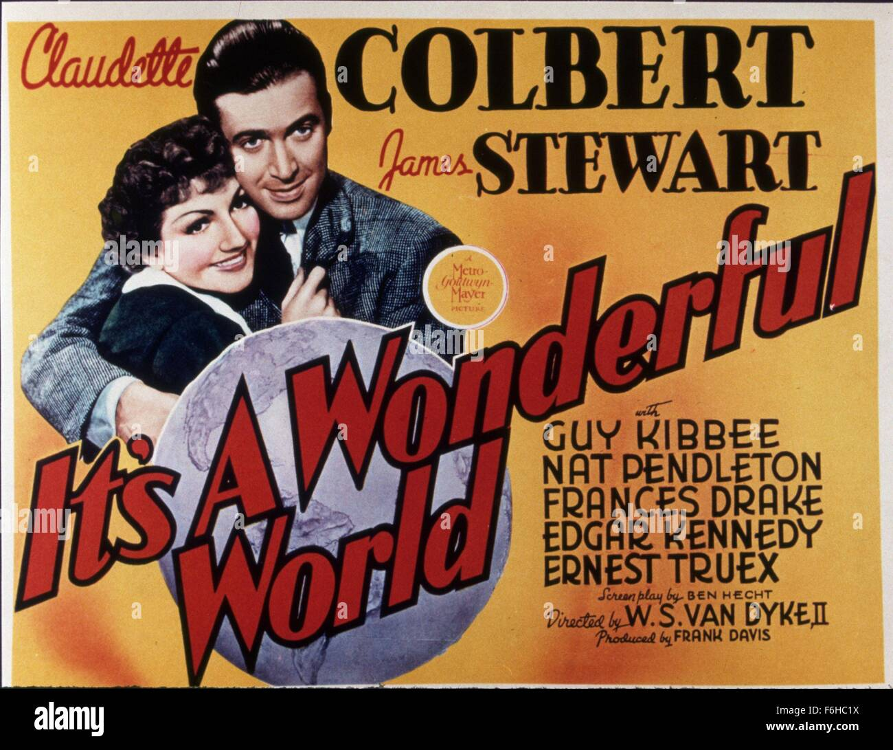 1939 Film Title ITS A WONDERFUL WORLD Director W S VAN DYKE Studio MGM Pictured CLAUDETTE COLBERT JAMES STEWART Credit Image SNAP
