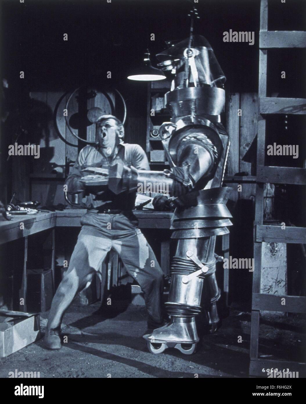 1954, Film Title: TOBOR THE GREAT, Director: LEE SHOLEM, Studio: REPUBLIC, Pictured: ROBOTS-ANDROIDS-CYBORGS-CLONES, - Stock Image