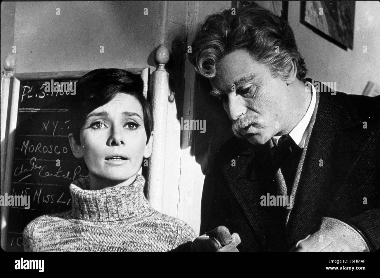 1967, Film Title: WAIT UNTIL DARK, Director: TERENCE YOUNG, Studio: WARNER, Pictured: ALAN ARKIN, AUDREY HEPBURN, - Stock Image