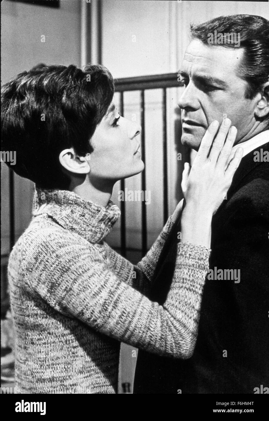 1967, Film Title: WAIT UNTIL DARK, Director: TERENCE YOUNG, Studio: WARNER, Pictured: 1967, RICHARD CRENNA, AUDREY - Stock Image