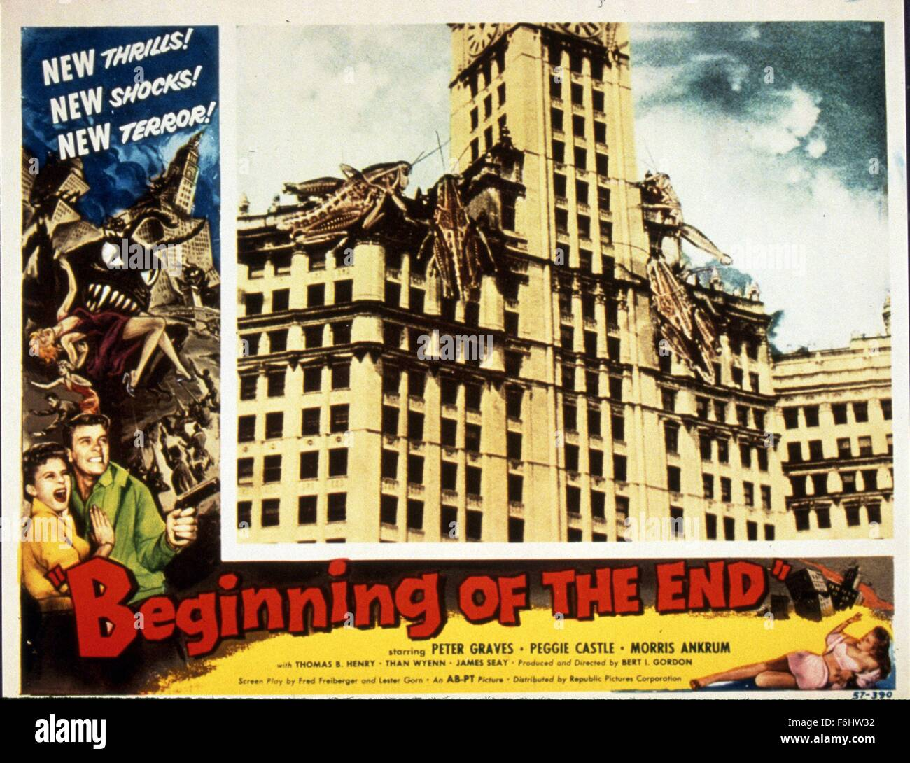 Beginning of the end Peter Graves Horror movie poster