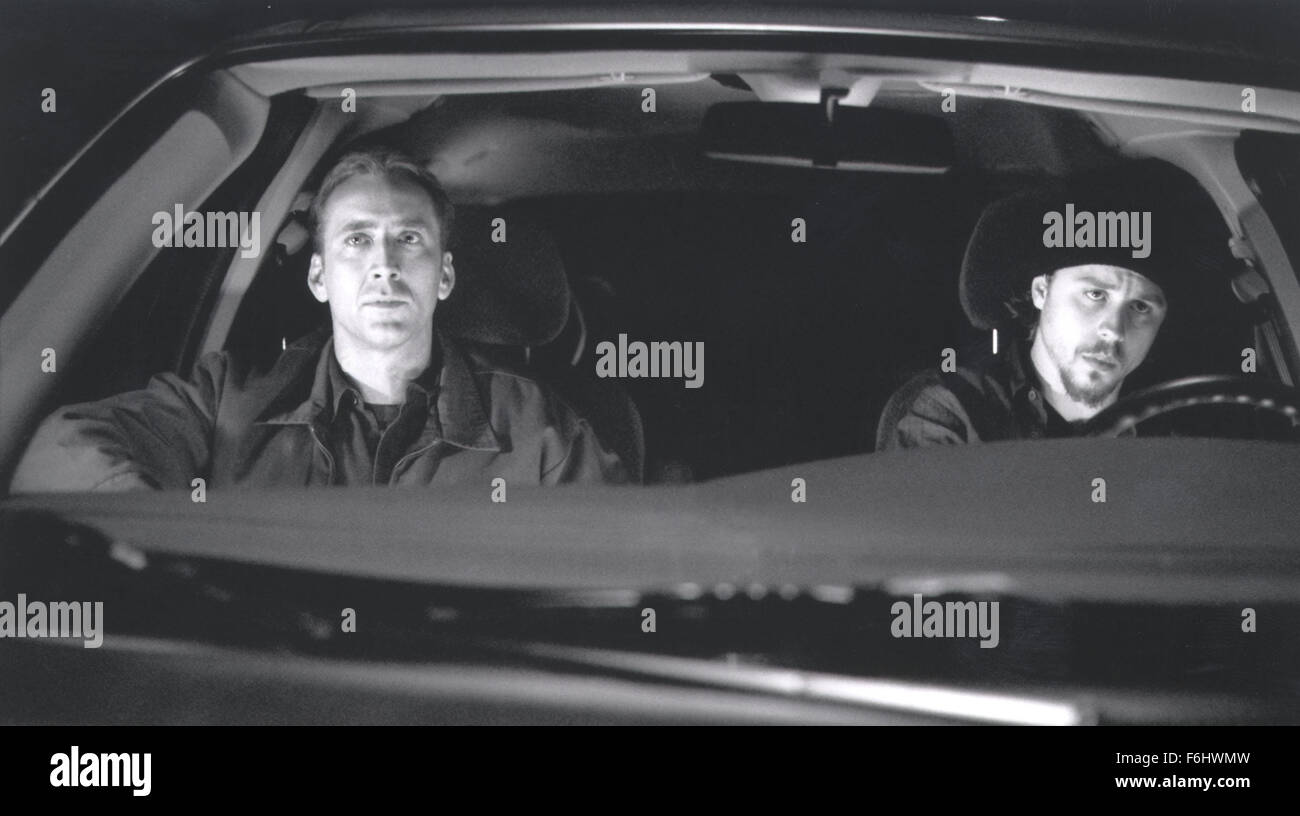 Jul 23, 2002; Hollywood, CA, USA; Actor NICOLAS CAGES as Randall 'Memphis' Raines & GIOVANNI RIBISI as Kip Raines Stock Photo