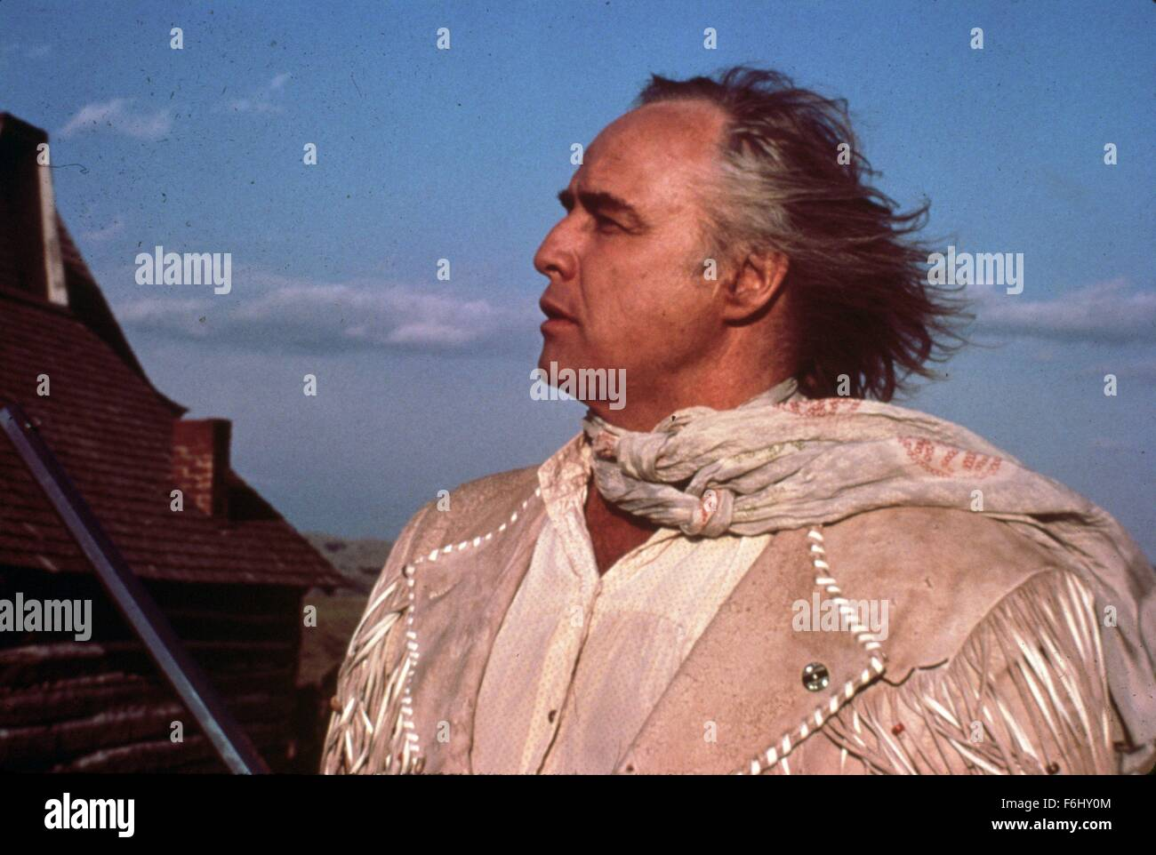 1976, Film Title: MISSOURI BREAKS, Director: ARTHUR PENN,  Pictured: MARLON BRANDO. - Stock Image