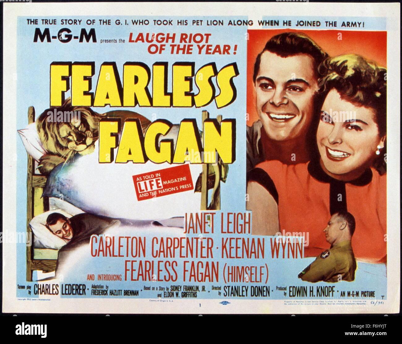 1952 Film Title Fearless Fagan Director Stanley Donen