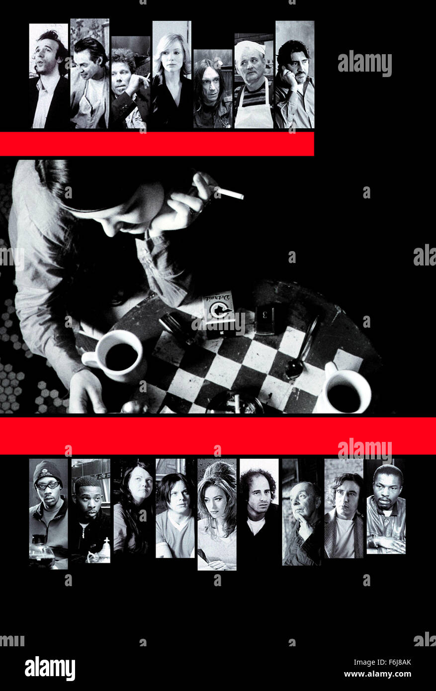 Mar 04, 2003; Hollywood, CA, USA; Poster for the comedy 'Coffee and Cigarettes' directed by Jim Jarmusch. Stock Photo