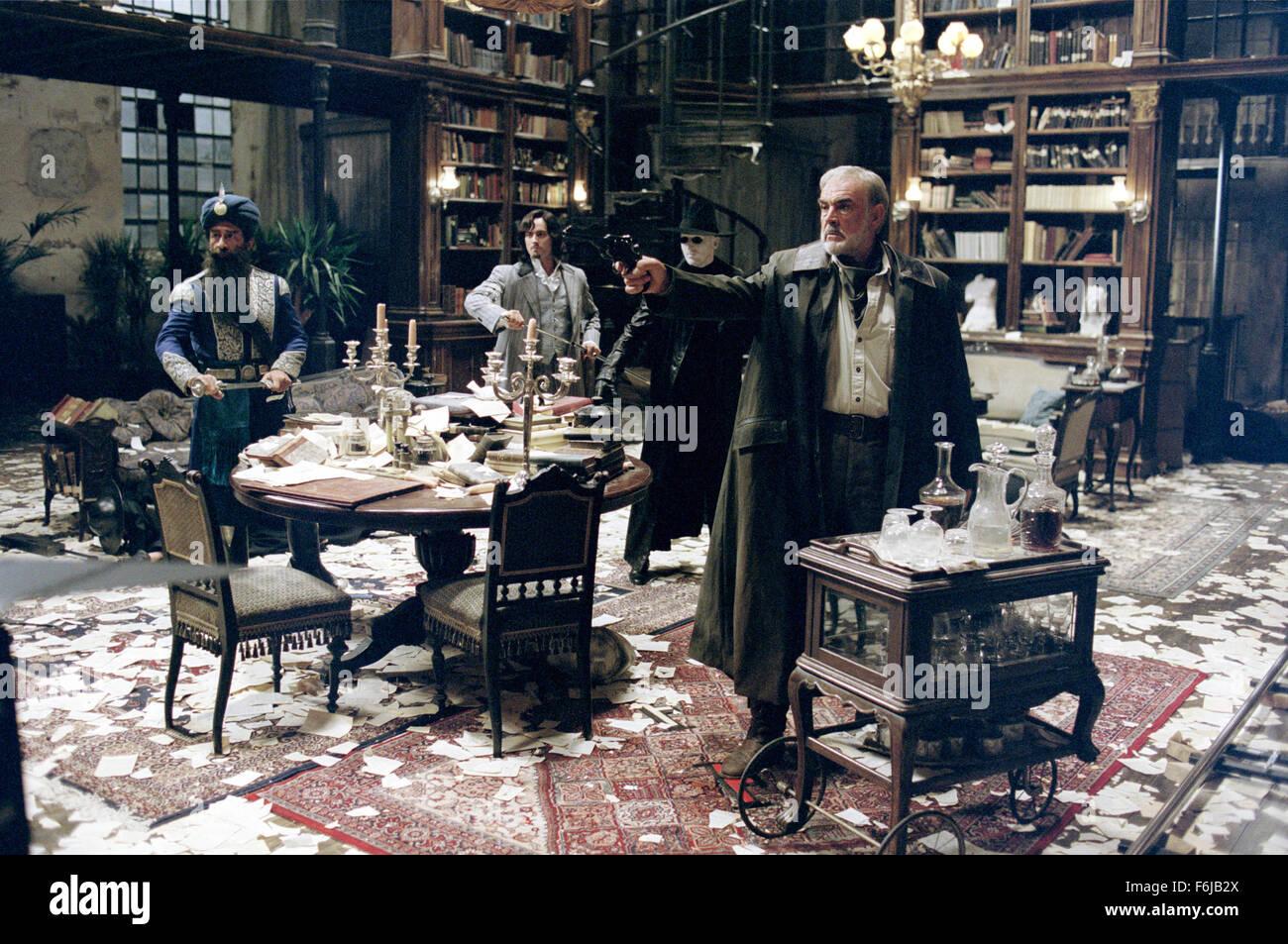 Jul 11, 2003; Hollywood, CA, USA; (left to right) NASEERUDDIN SHAH as Captain Nemo, STUART TOWNSEND as Dorian Gray, Stock Photo