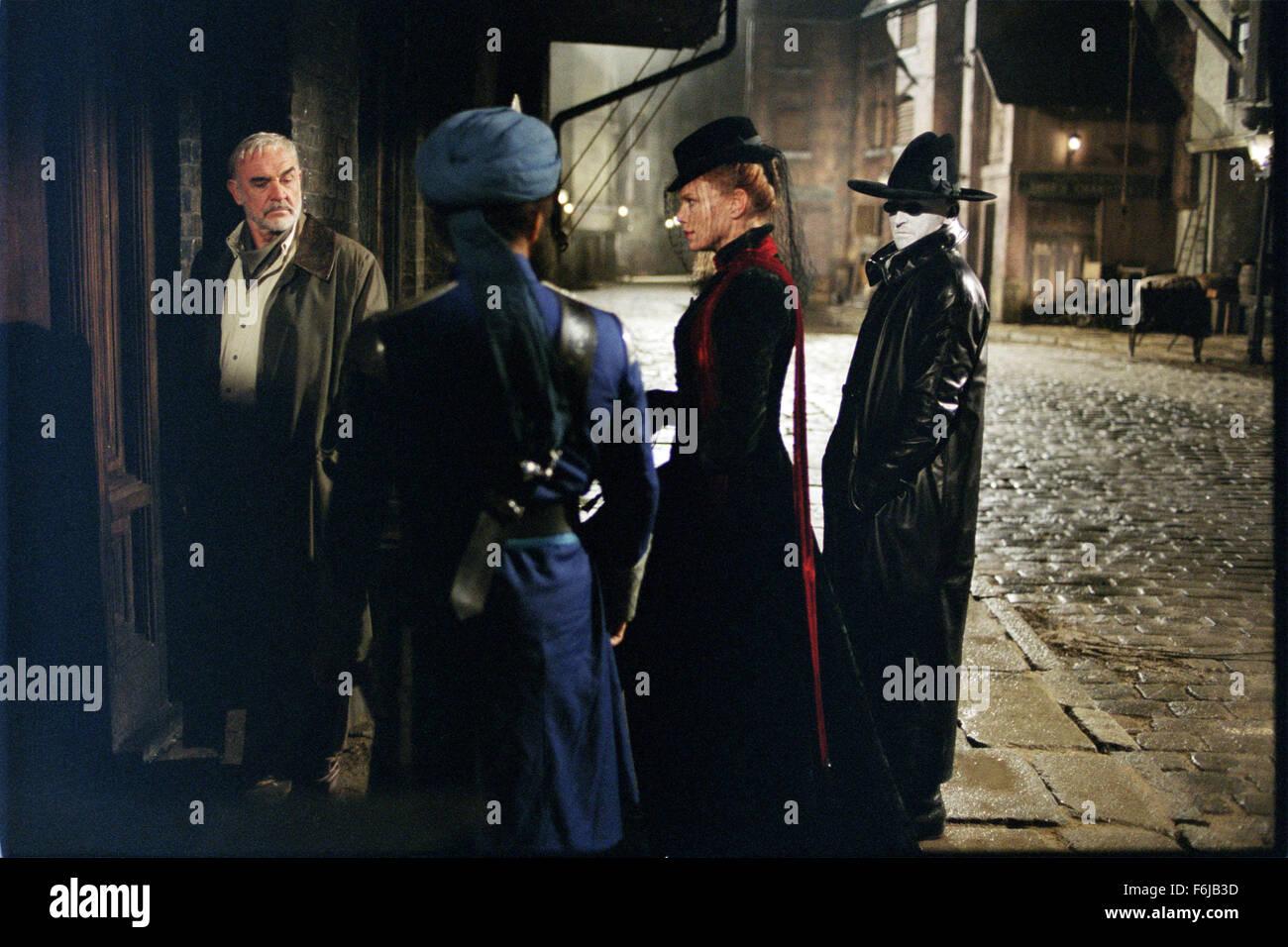 Jul 11, 2003; Calgary, AB, CANADA; SEAN CONNERY, PETA WILSON and TONY CURRAN star as Allan Quatermain, Mina Harker Stock Photo