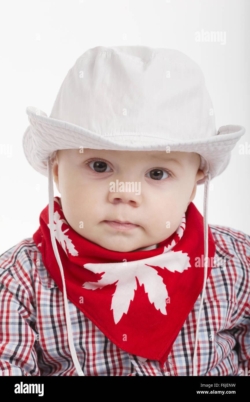 bd93a7e67bcee little funny cowboy on white background Stock Photo  90146501 - Alamy