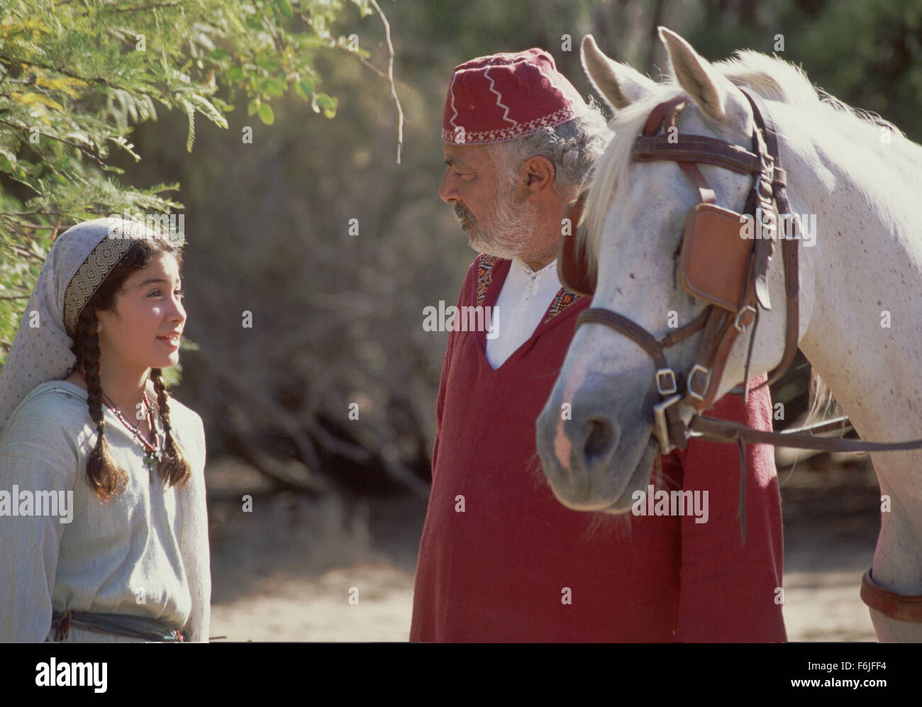 Dec 07, 2003; Hollywood, CA, USA; Actress BIANA TAMIMI stars as Neera and RICHARD ROMANUS as Ben in the Walt Disney - Stock Image