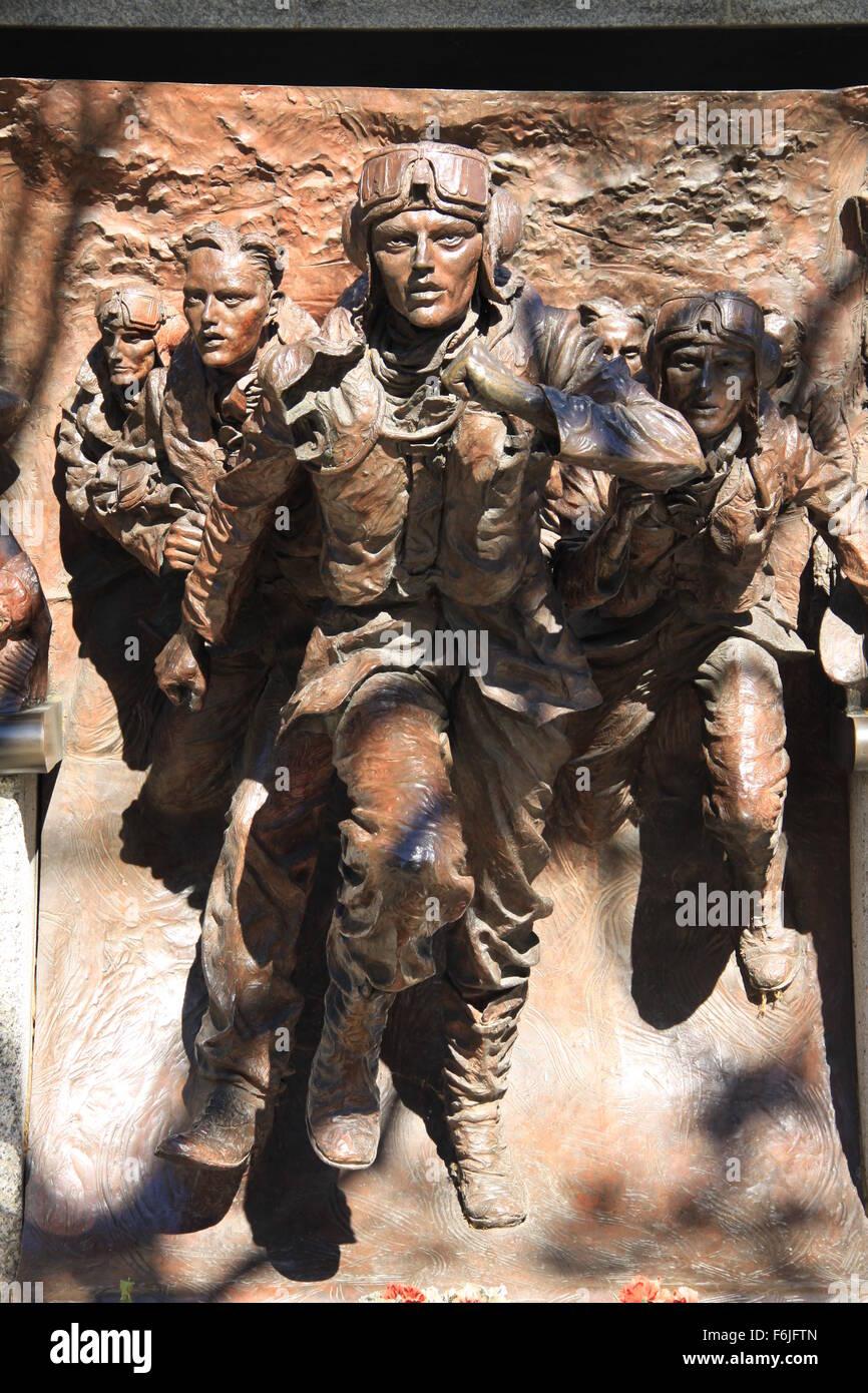 Battle of Britain memorial in London - Stock Image
