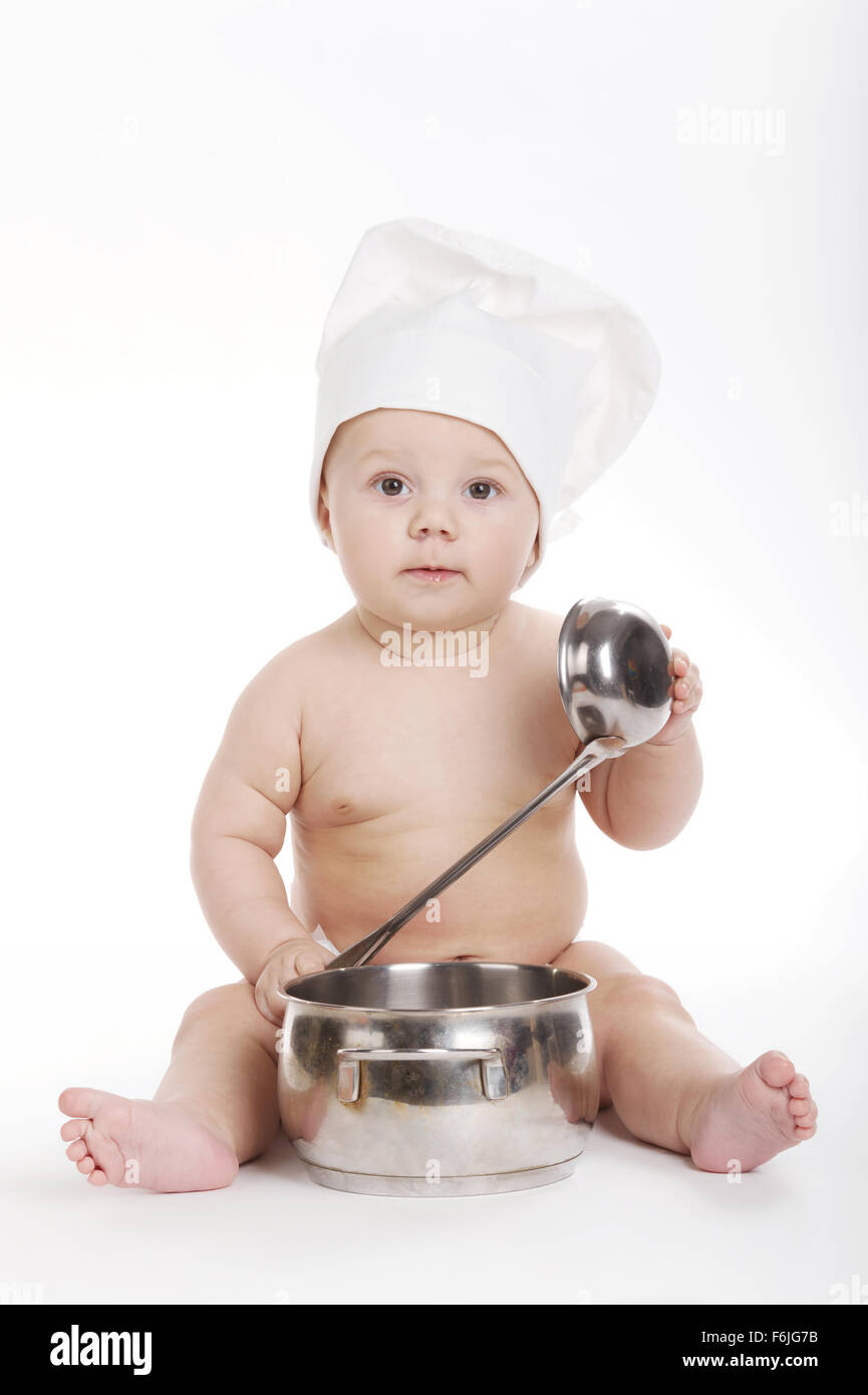 little cute cook on white background Stock Photo  90147663 - Alamy cd0795e79625