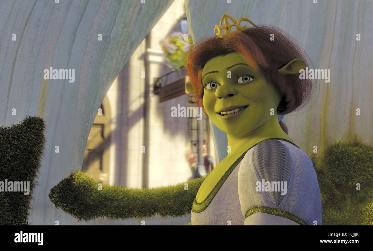 RELEASE DATE: May 19, 2004. MOVIE TITLE: Shrek 2. STUDIO: DreamWorks SKG. PLOT: Shrek has rescued Princess Fiona, - Stock Image