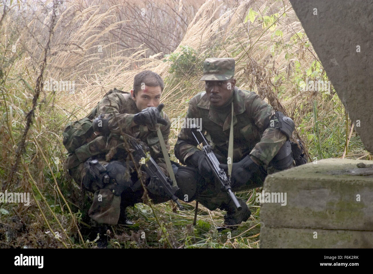 RELEASE DATE: September 6, 2005. MOVIE TITLE: The Marksman. STUDIO: Columbia TriStar. PLOT: Chechen rebels take - Stock Image