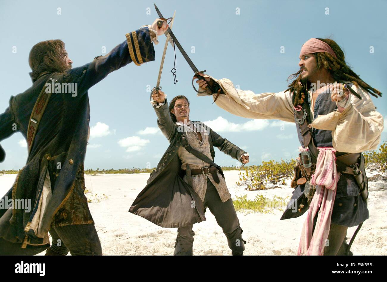 Jan. 1, 2006 - ......Pirates Of The Caribbean: Dead Man's Chest,  Jack Davenport,  Orlando Bloom,  Johnny Depp..Film - Stock Image