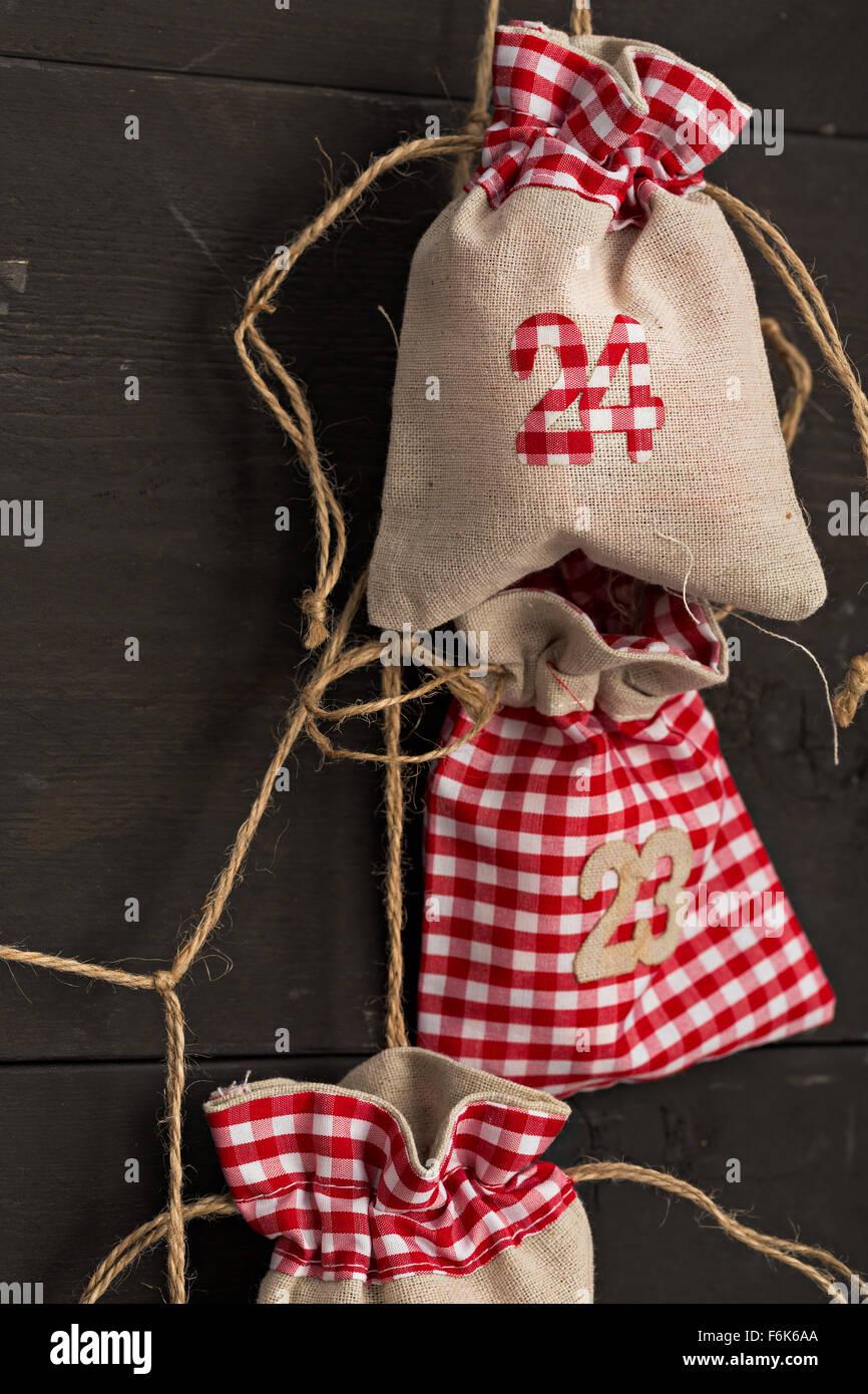 Christmas calendar - Stock Image