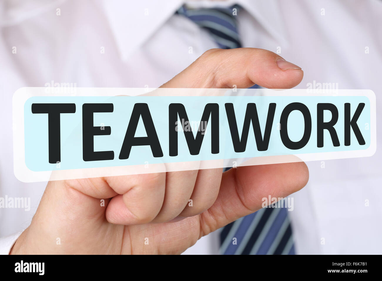 Businessman business concept with teamwork working together in a team - Stock Image