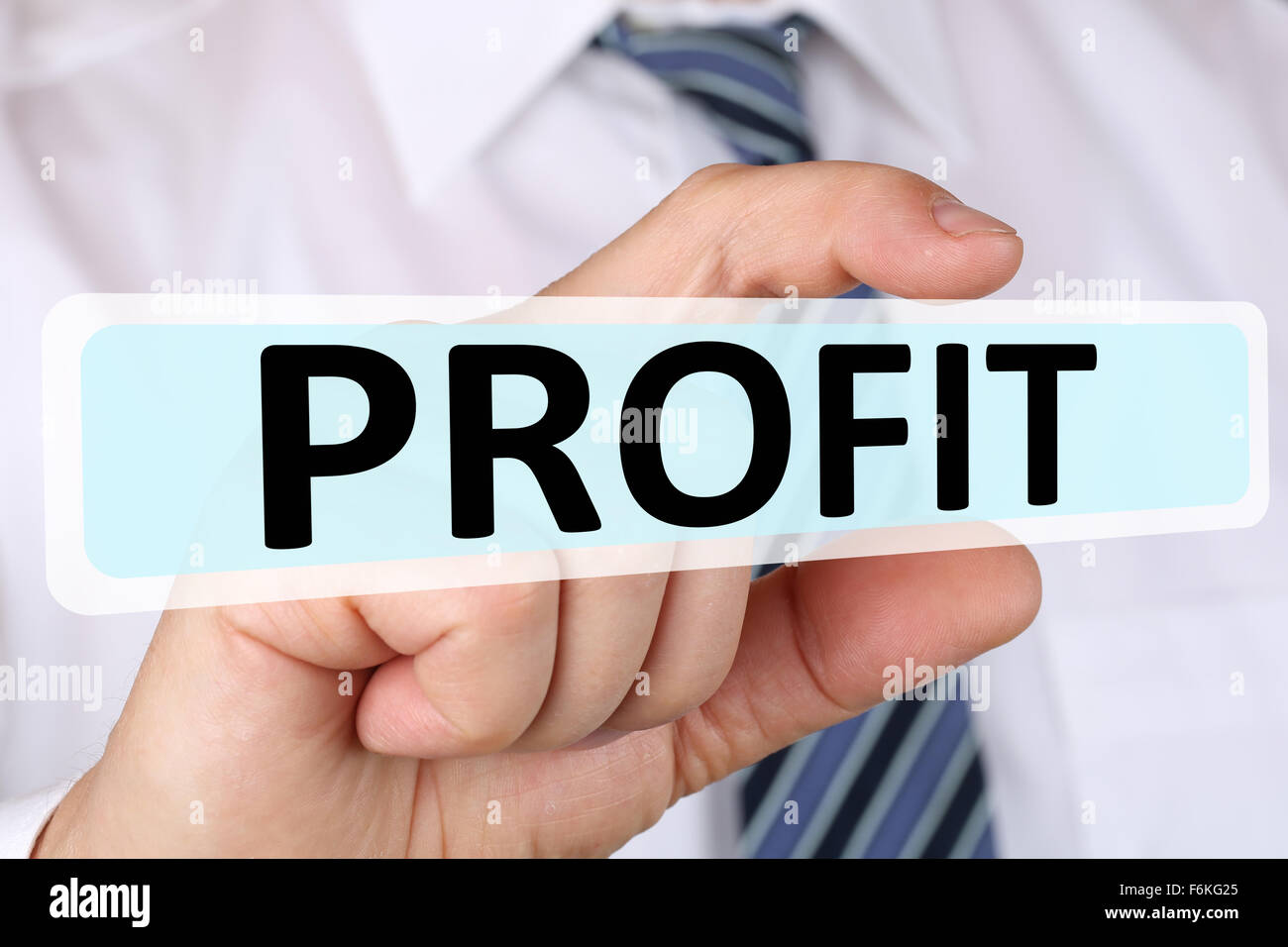 Businessman business concept with profit leadership financial successful success - Stock Image