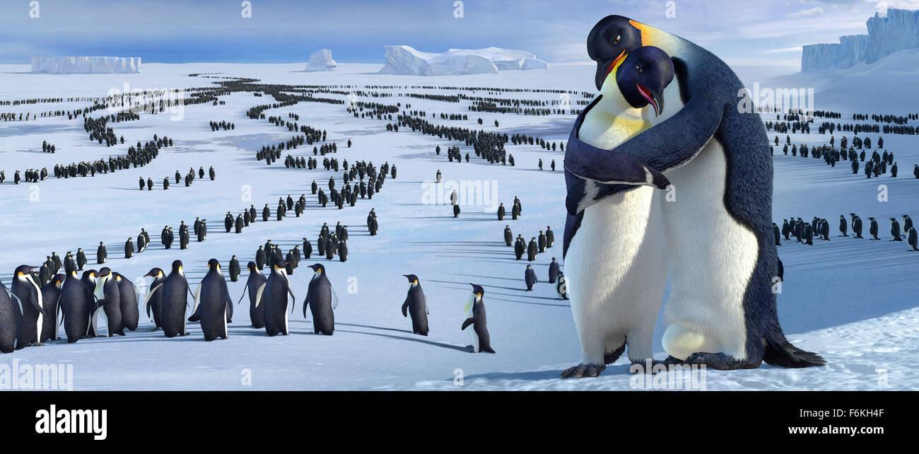 RELEASE DATE: November 17, 2006. MOVIE TITLE: Happy Feet. DIRECTOR: George Miller. STUDIO: Village Roadshow Pictures. - Stock Image
