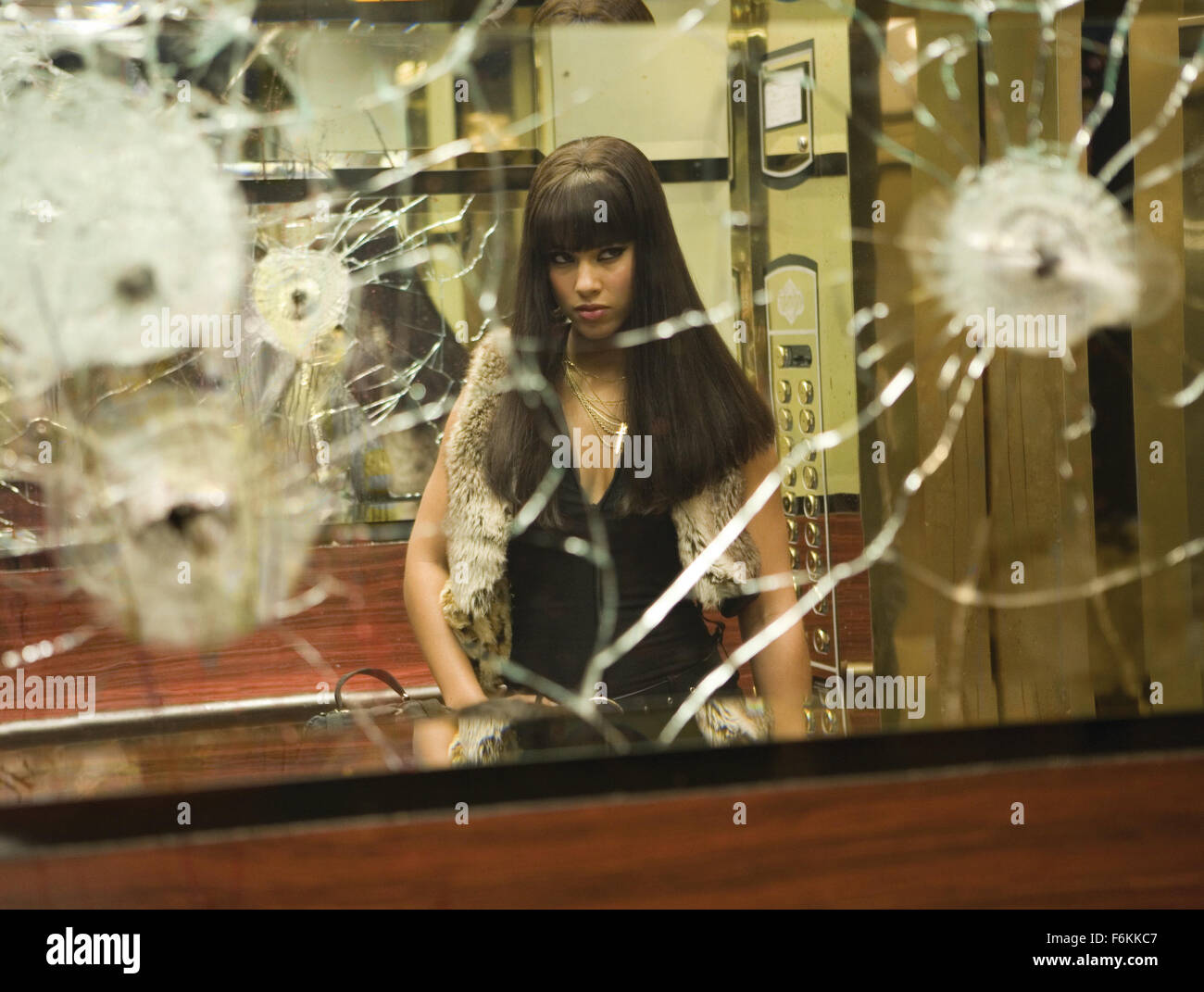 RELEASE DATE: January 26, 2007. MOVIE TITLE: Smokin Aces. STUDIO: Universal Pictures. PLOT: When a Las Vegas performer - Stock Image