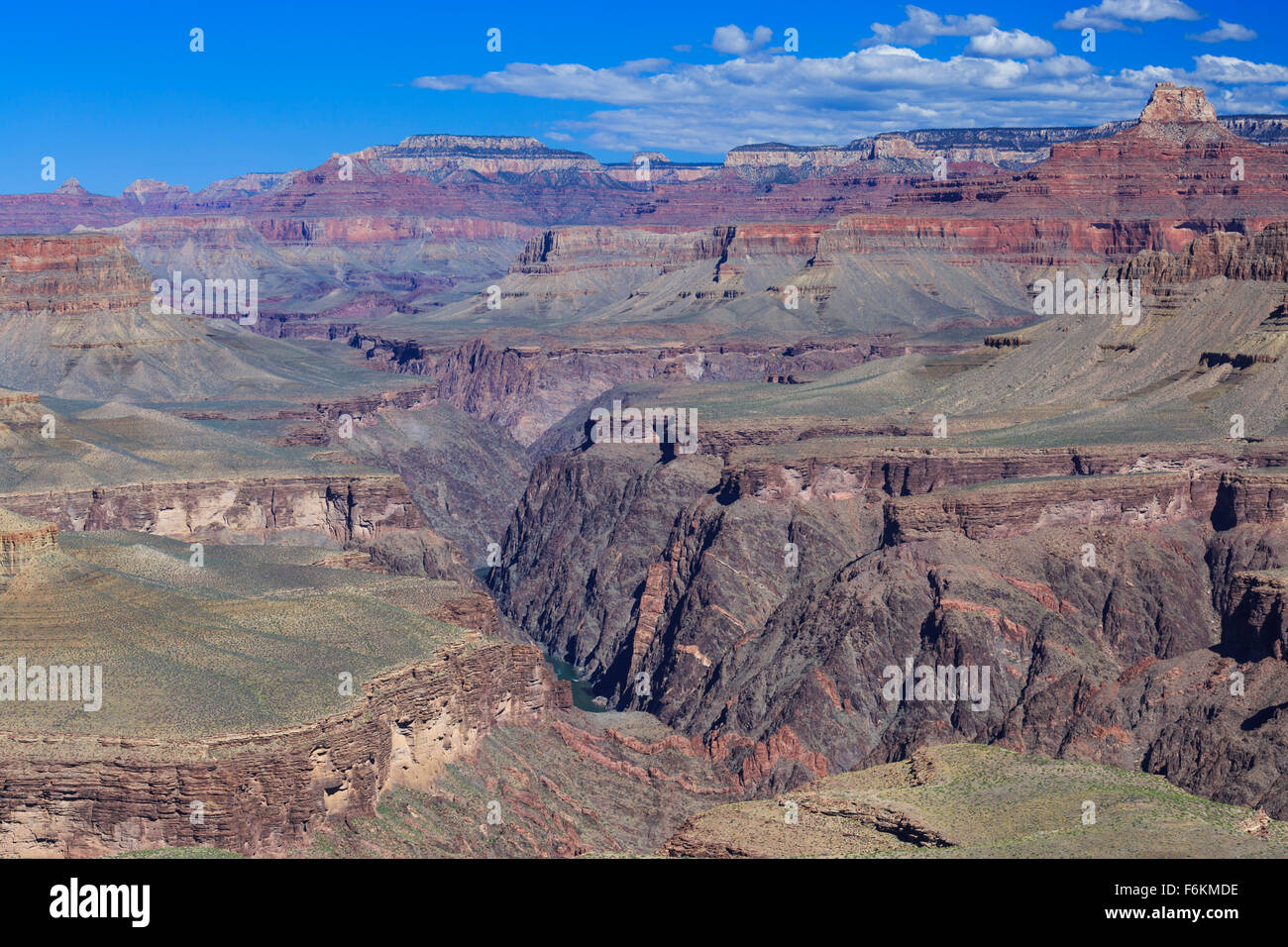 upper granite gorge viewed from horseshoe mesa in grand canyon national park, arizona - Stock Image