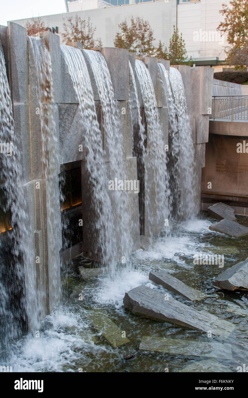 Martin Luther King Jr. Memorial & Waterfall in Yerba Buena Gardens in SoMa in San Francisco, California. - Stock Image