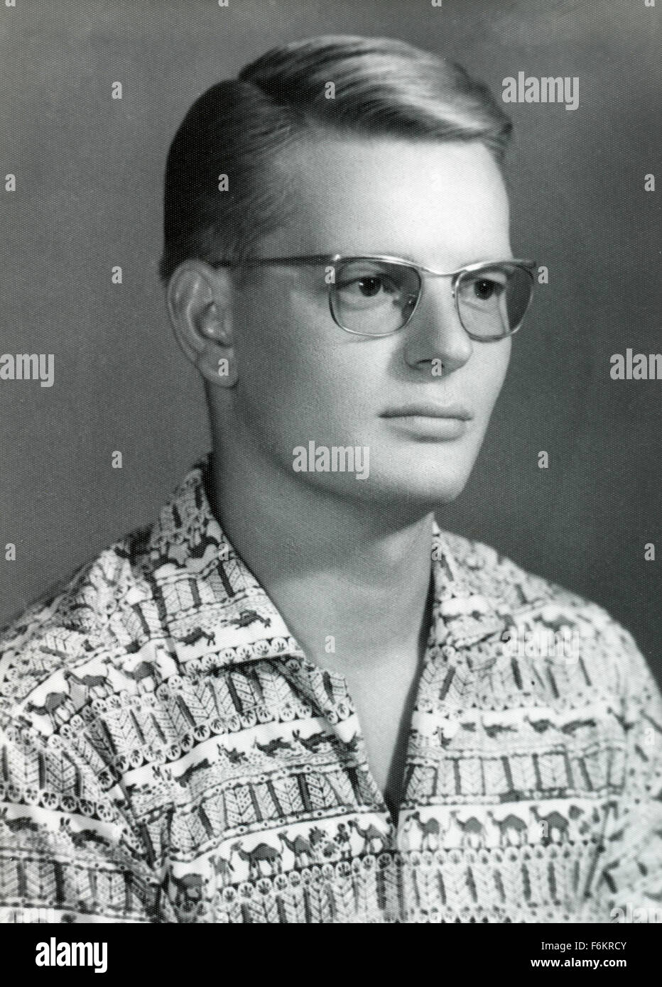 Portrait of a boy from the 60s, Denmark - Stock Image