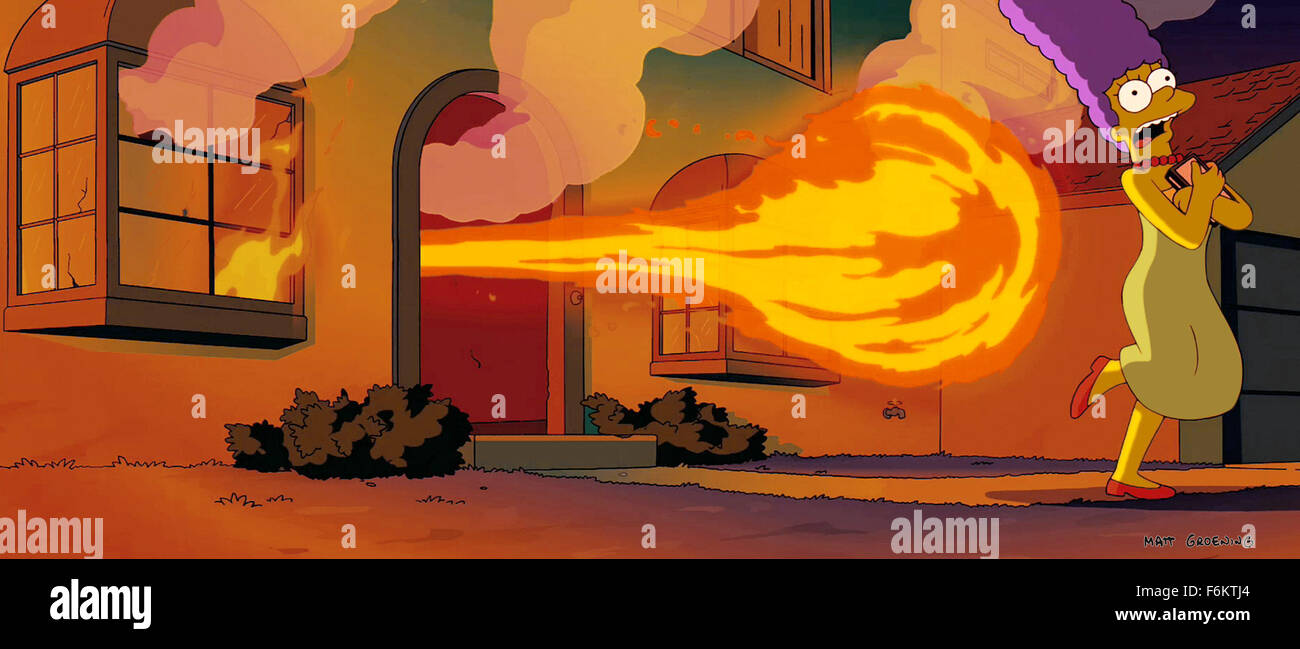 Release Date July 27 2007 Movie Title The Simpsons Movie Stock Photo Alamy