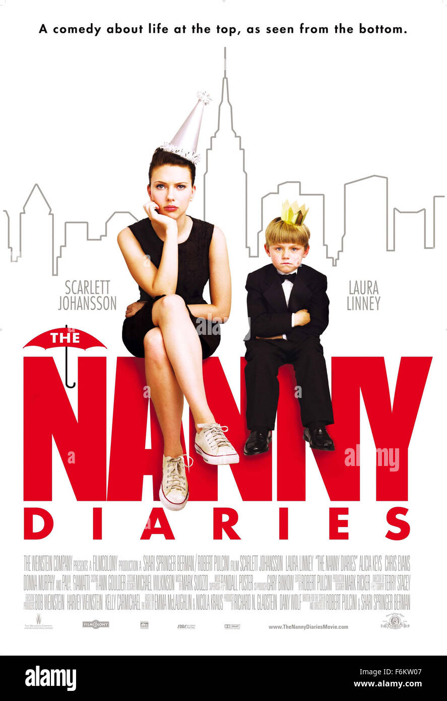 RELEASE DATE: August 2007. MOVIE TITLE: The Nanny Diaries. STUDIO: FilmColony. PLOT: A college student goes to work - Stock Image