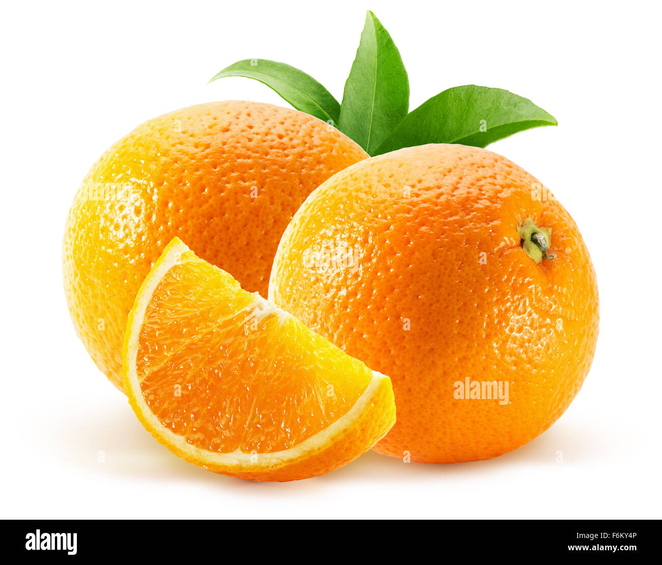 oranges isolated on the white background. - Stock Image