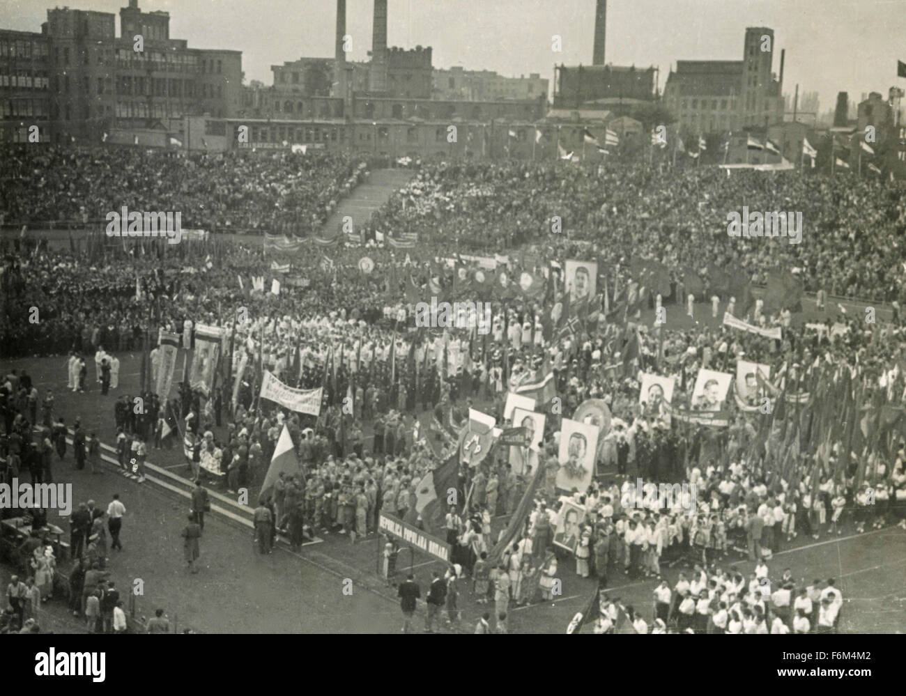 World Festival Budapest 1949: Gathering General - Stock Image