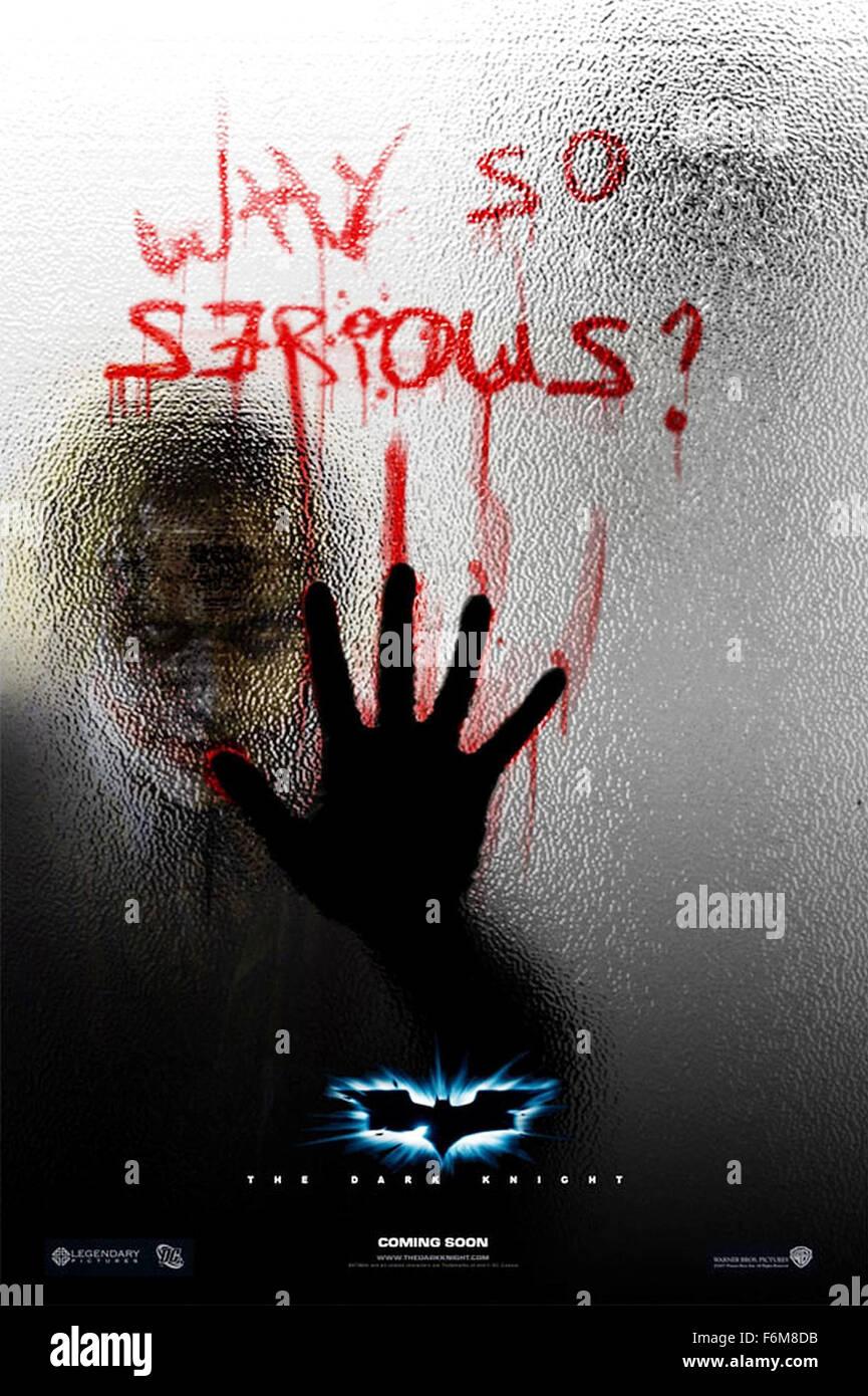 Release Date July 18 2008 Movie Title The Dark Knight Studio Dc Stock Photo Alamy