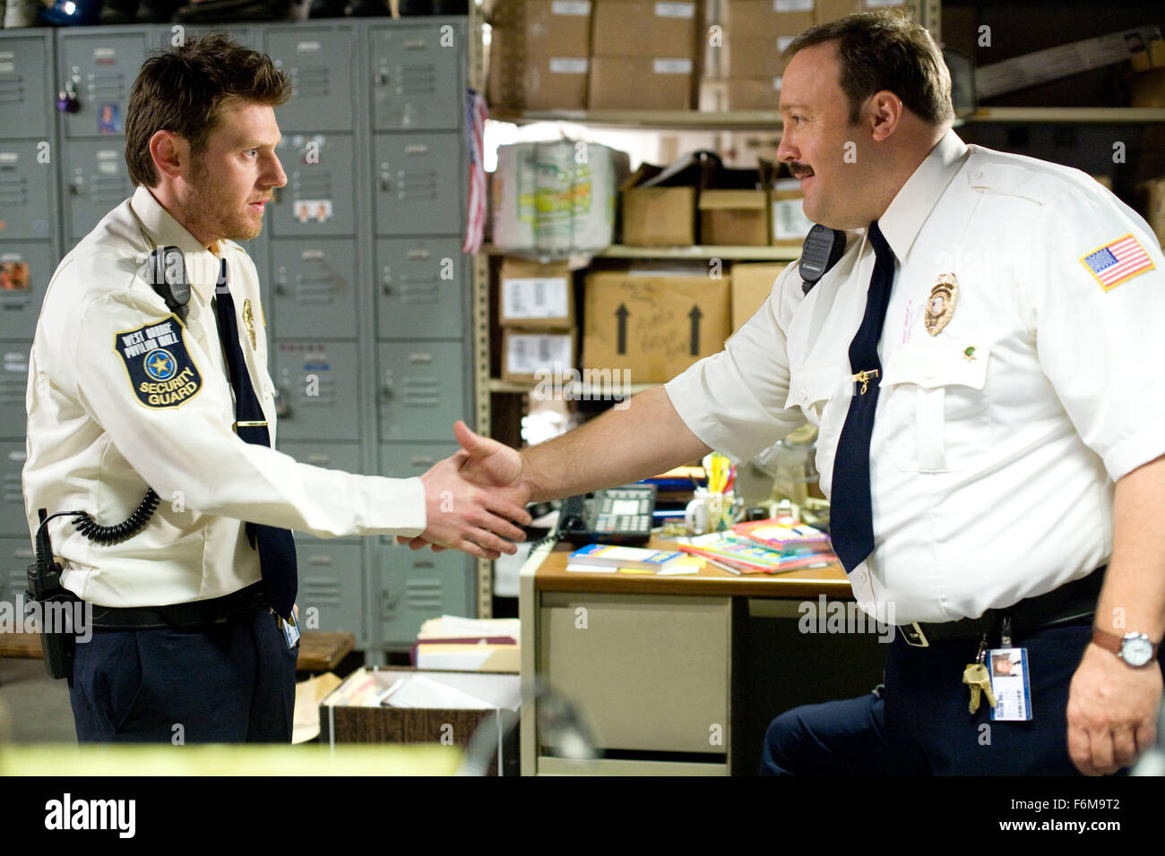 RELEASE DATE: January 16, 2009. MOVIE TITLE: Paul Blart: Mall Cop. STUDIO: Columbia Pictures. PLOT: When a shopping - Stock Image