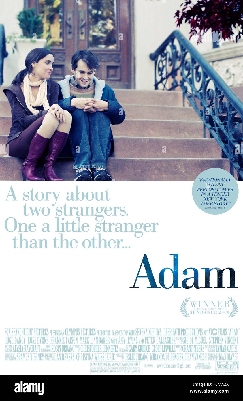 RELEASE DATE: January 20, 2009. MOVIE TITLE: Adam. STUDIO: Olympus Pictures. PLOT: Soon after moving in, Beth, a - Stock Image
