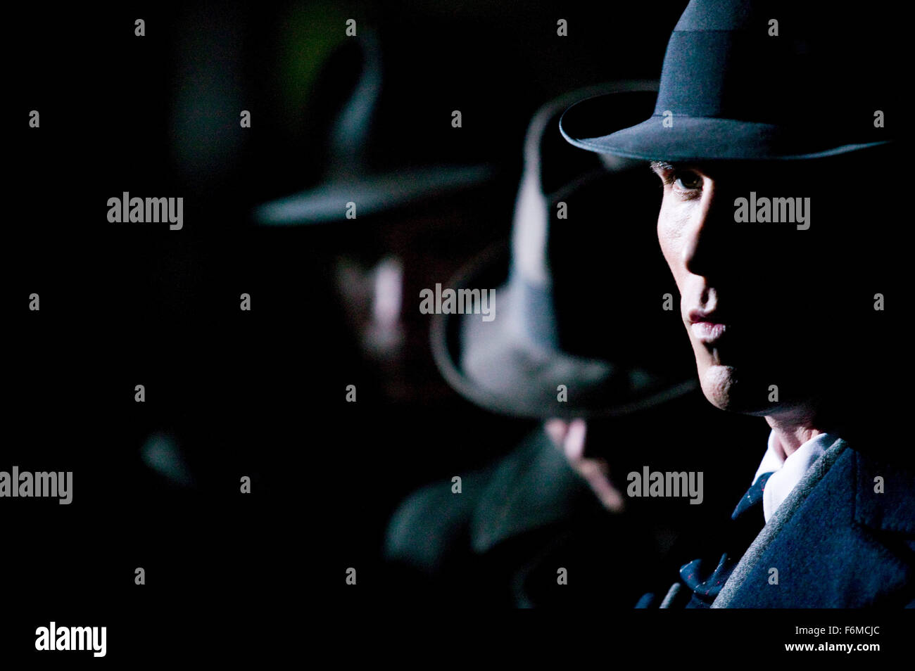 RELEASE DATE: July 1, 2009. MOVIE TITLE: Public Enemies. STUDIO: Universal Pictures. PLOT: The Feds try to take - Stock Image