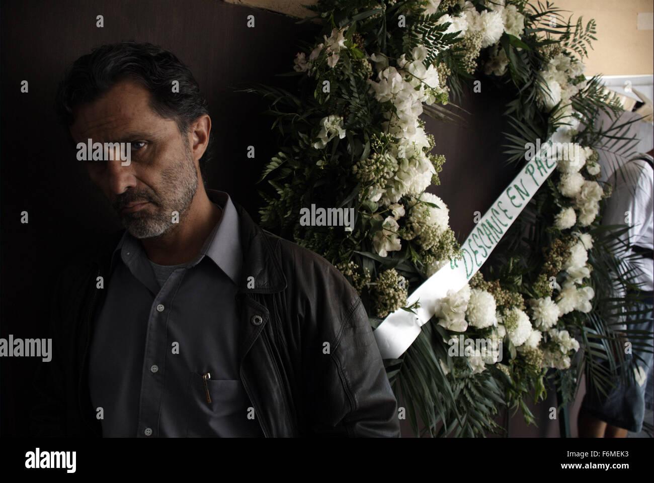 RELEASE DATE: October 18, 2009. MOVIE TITLE: Under the Salt. STUDIO: Fidecine. PLOT: A series of murders leads commander - Stock Image