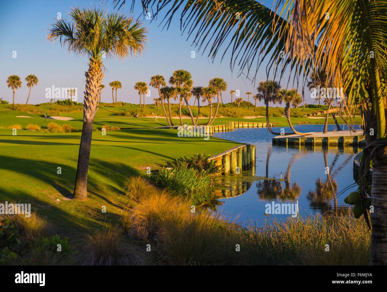 Palm Beach Par 3 golf course - Stock Image