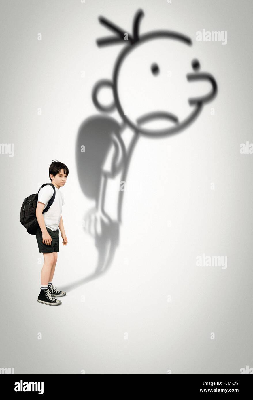 RELEASE DATE: March 19, 2010. MOVIE TITLE: Diary of a Wimpy Kid. STUDIO: Twentieth Century Fox Films. PLOT: Live - Stock Image