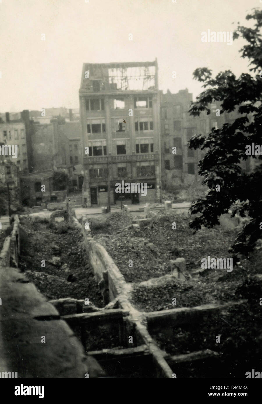 Berlin destroyed after the second world war, Germany - Stock Image