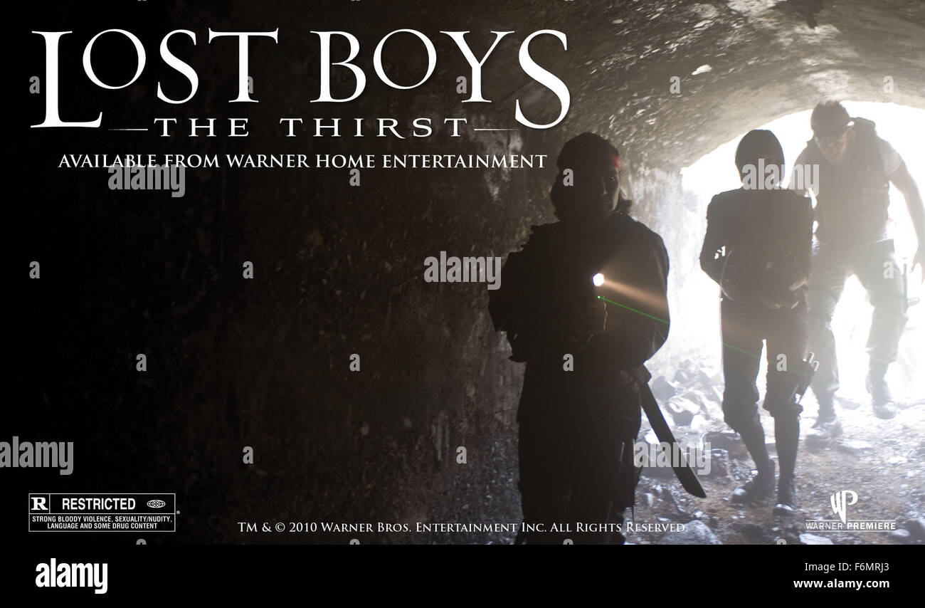 RELEASE DATE: October 12, 2010. MOVIE TITLE: Lost Boys: The Thirst. STUDIO: Thunder Road Pictures. PLOT: In San - Stock Image