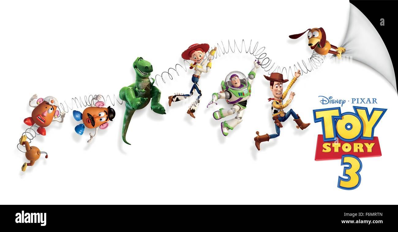 RELEASE DATE: June 18, 2010   MOVIE TITLE: Toy Story 3   STUDIO: Disney Pixar   DIRECTOR: Lee Unkrich   PLOT: Woody, - Stock Image
