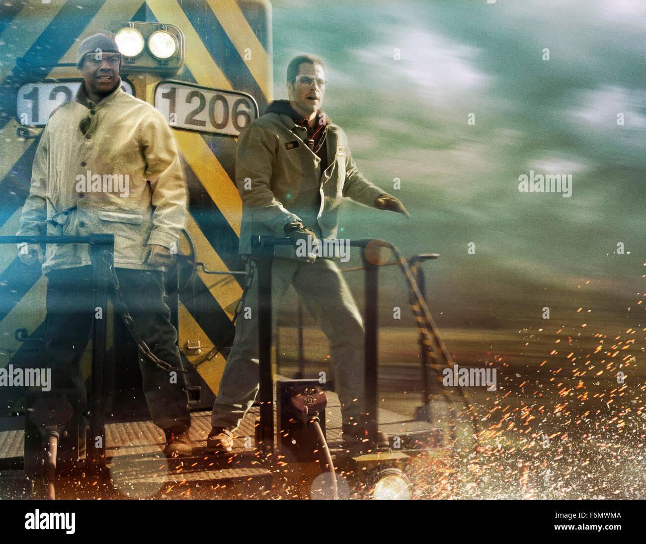RELEASE DATE: November 12, 2010. MOVIE TITLE: Unstoppable. STUDIO: 20th Century Fox. PLOT: A rail company frantically - Stock Image