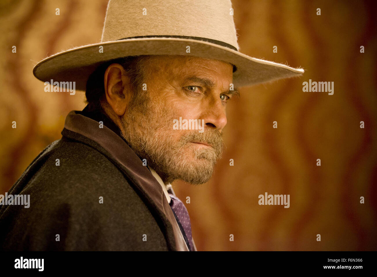 MOVIE TITLE: Django Unchained STUDIO: Columbia Pictures DIRECTOR: Quentin Tarantino PLOT: With the help of his mentor, - Stock Image