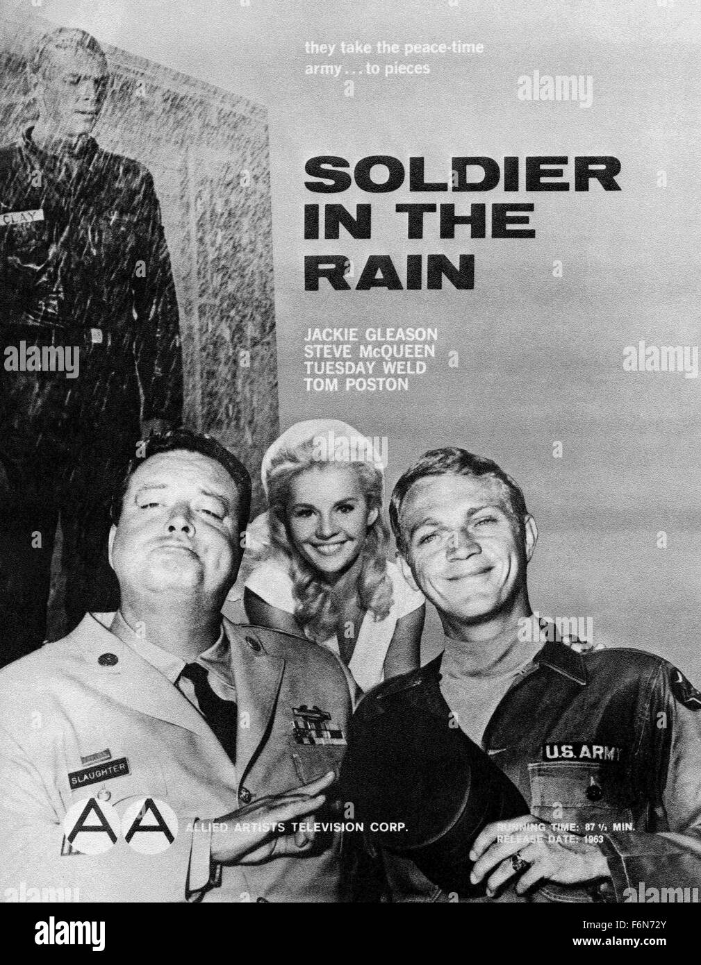 Aug. 14, 2014 - Hollywood, USA - SOLDIER IN THE RAIN (1963) .RALPH NELSON (DIR).SLR 001.  (Credit Image: c Entertainment - Stock Image