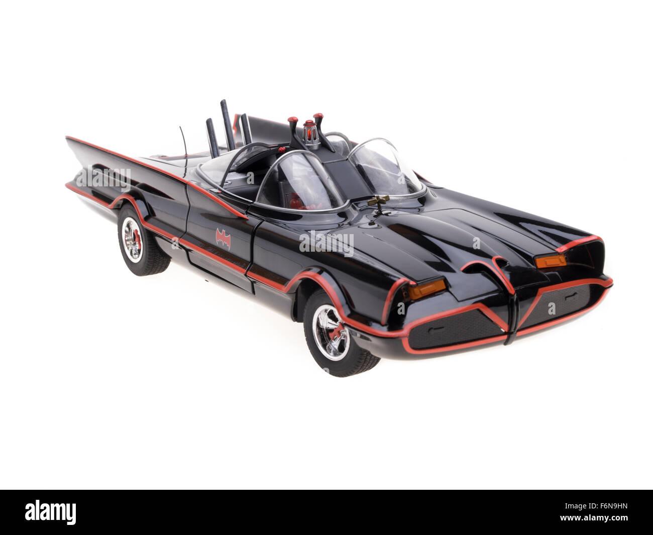 1966 TV Series Batmobile - Hot Wheels Toy - Stock Image