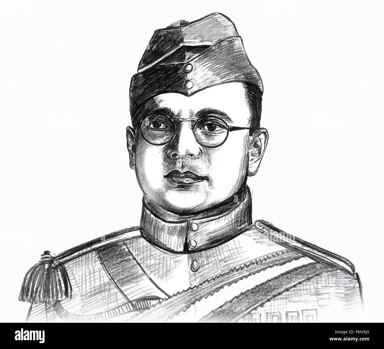 Netaji subhash chandra bose sketch stock photos netaji subhash