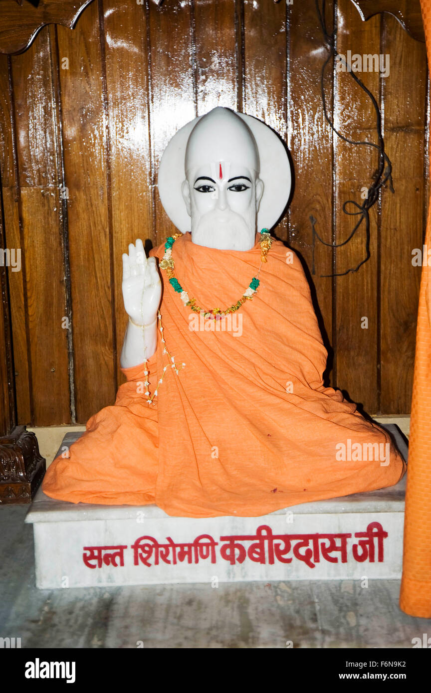 Kabir das sant, varanasi, uttar pradesh, india, asia - Stock Image
