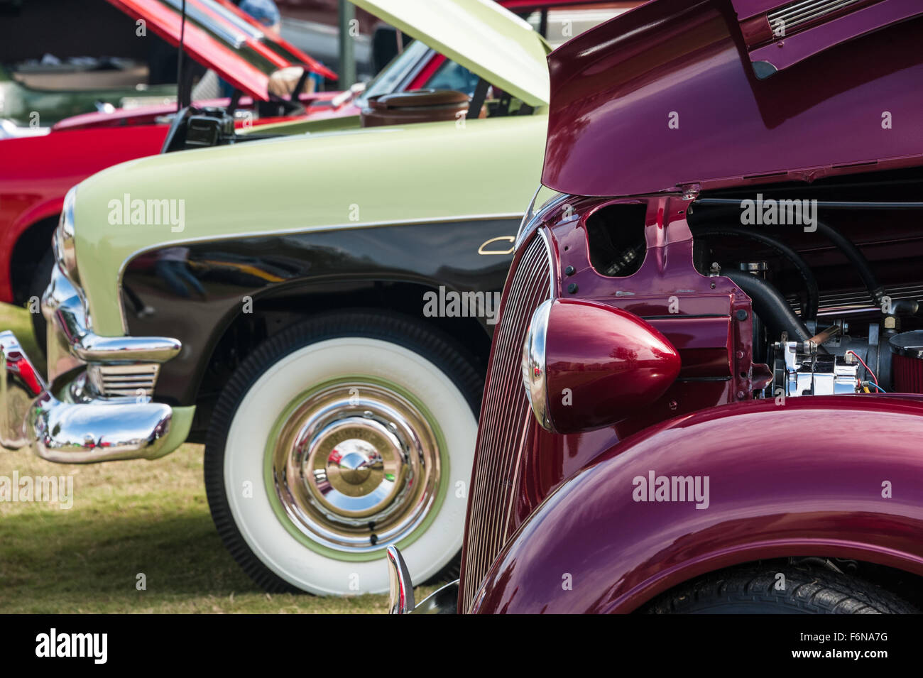 Beautifully restored classic cars in colorful display at the Men of ...