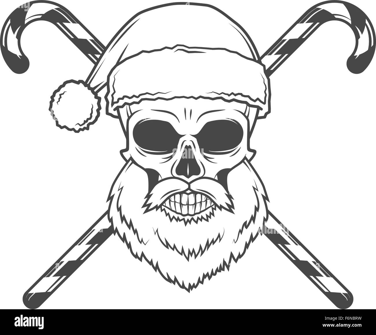Bad Santa Claus Biker With Candies Poster Heavy Metal Christmas Portrait Evil Vector Images