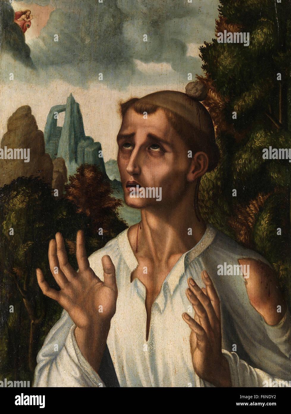 Luis de Morales - Saint Stephen - Stock Image